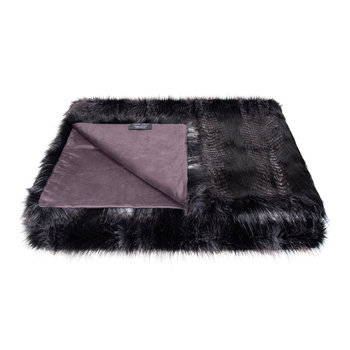 Faux Fur Throw - 180x145cm - Signature Black Quail