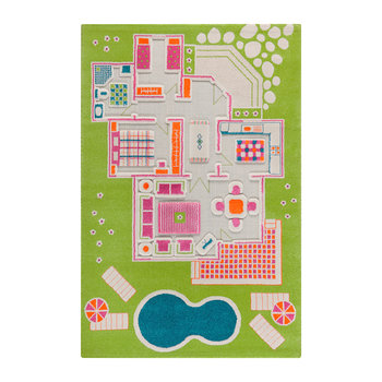 Children's 3D Play Rug - Green Play House
