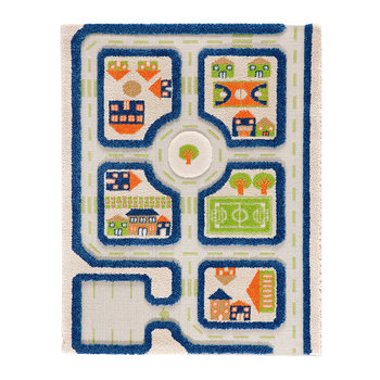 Children's 3D Play Rug - Blue Road