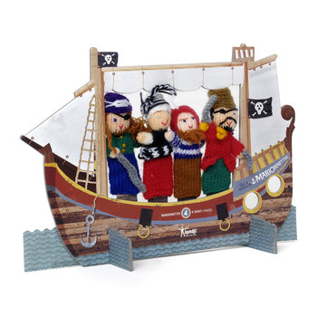 Woolen Finger Puppets - Set of 4 - Pirates