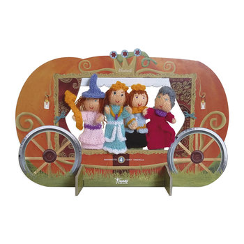 Woolen Finger Puppets - Set of 4 - Cinderella