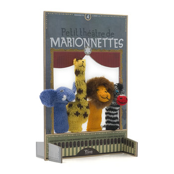 Woolen Finger Puppets - Set of 4 - Jungle