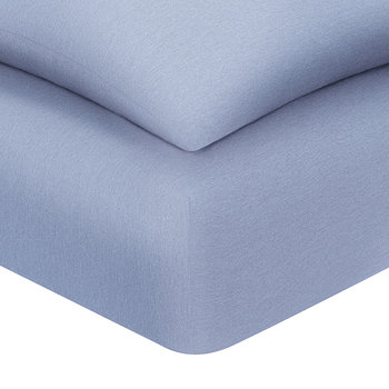 Harrison Fitted Sheet - Solid Periwinkle