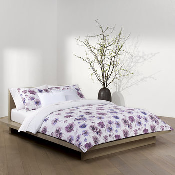 Watercolour Bloom Duvet Cover - Amethyst