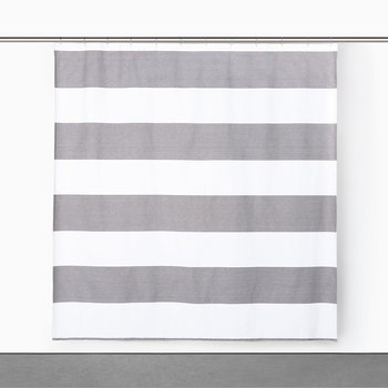 Donald Shower Curtain - White/Black - 183x183cm