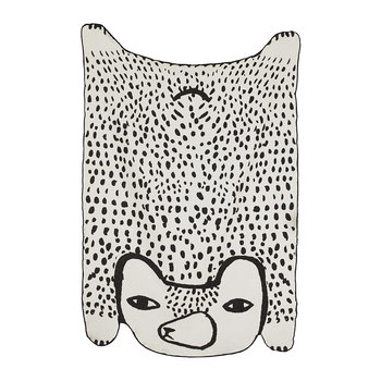 Bear Shaped Cotton Throw