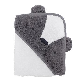 Milo the Bear Hooded Towel - Gray