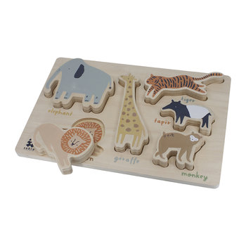 Wooden Chunky Puzzle - Wildlife