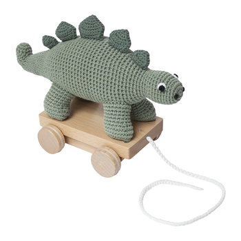 Crochet Pull-along Toy - Dinosaur
