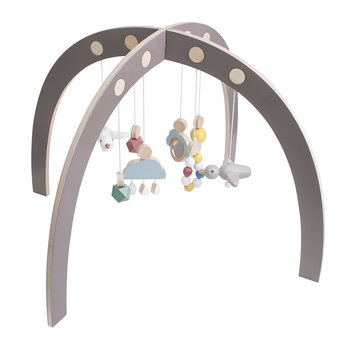 Wooden Baby Gym - Warm Grey