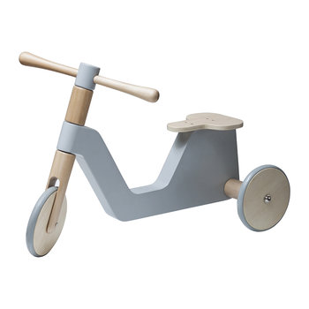 Wooden Sebra Scooter - Elephant Grey
