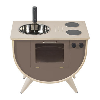 Wooden Play Kitchen - Warm Grey