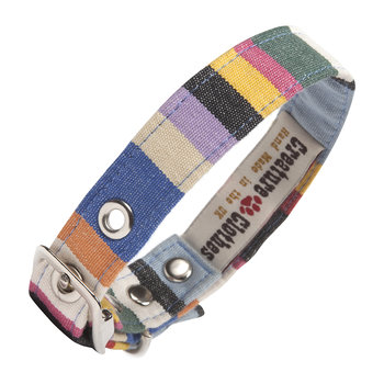 Fabric Dog Collar - Deckchair
