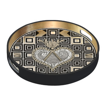 Atout Couer Round Lacquer Tray