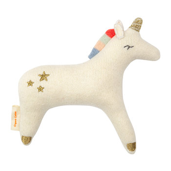 Knitted Baby Rattle - Unicorn