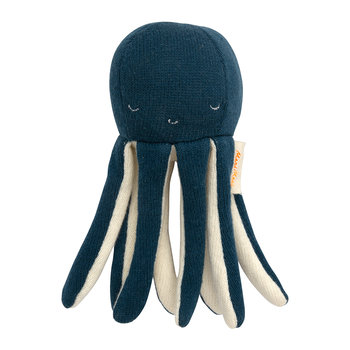 Knitted Baby Rattle - Octopus