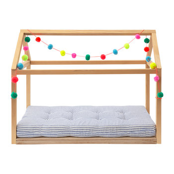 Dolly Wooden Pom Pom Bed