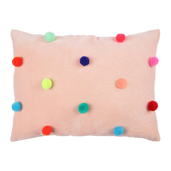 Children's Velvet Pillow - Pom Pom
