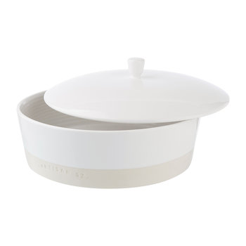 Shallow Ceramic Lidded Dish