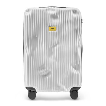 Stripe Suitcase - White