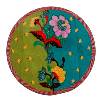 Indonesian Inspired Coaster - Peacock