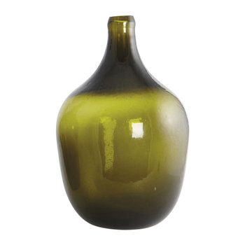 Glass Shaded Balloon Vase - Olive Green - Medium