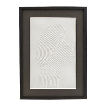 Vernis Textured Illustration in Wooden Frame - One