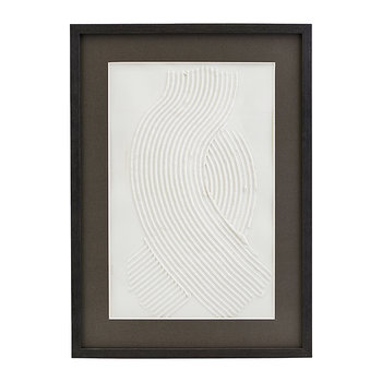 Vernis Textured Illustration in Wooden Frame - Two