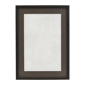 Vernis Textured Illustration in Wooden Frame - Three
