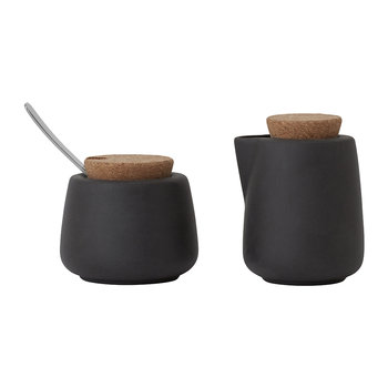 Nicola Milk and Sugar Set - Charcoal