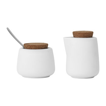 Nicola Milk and Sugar Set - Pure White