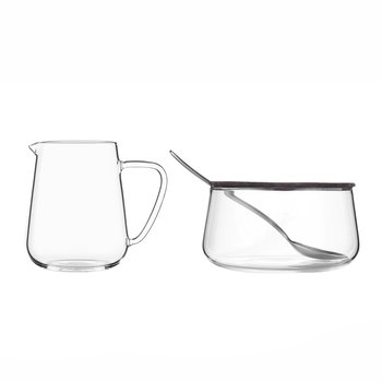 Classic Glass Milk and Sugar Set