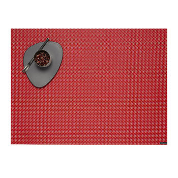 Basketweave Woven Rectangular Placemat - Chilli