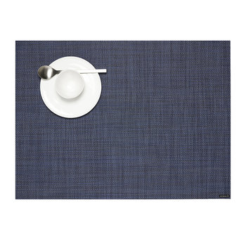 Set de Table Rectangulaire Tressé en Mini Vannerie - Indigo