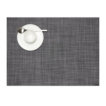 Mini Basketweave Woven Rectangular Placemat - Cool Gray