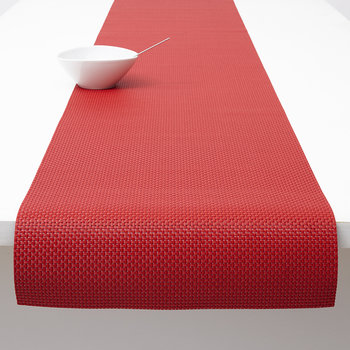 Basketweave Woven Table Runner - Chili