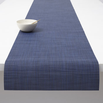 Mini Basketweave Woven Table Runner - Indigo