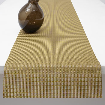 Trellis Metallic Table Runner - Gold
