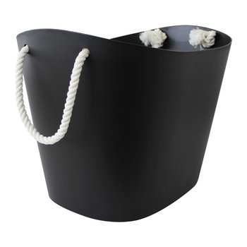 Balcolore Basket with Rope Handle - Black