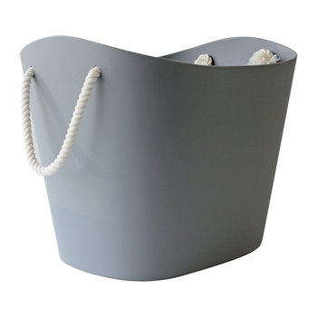 Balcolore Basket with Rope Handle - Grey