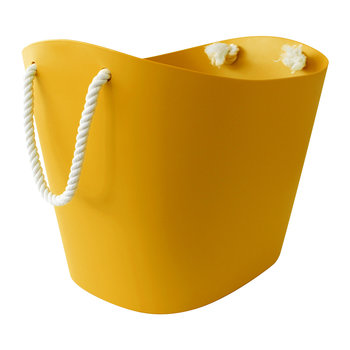 Balcolore Basket with Rope Handle - Mustard