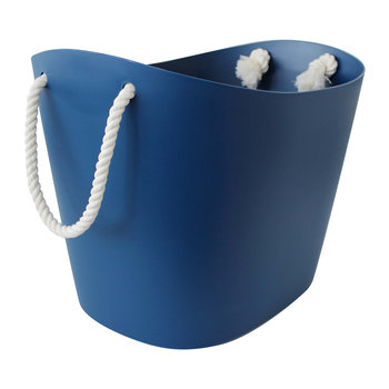 Balcolore Basket with Rope Handle - Navy