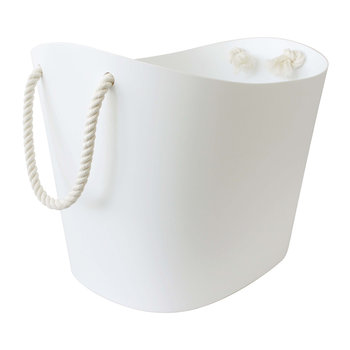Balcolore Basket with Rope Handle - White