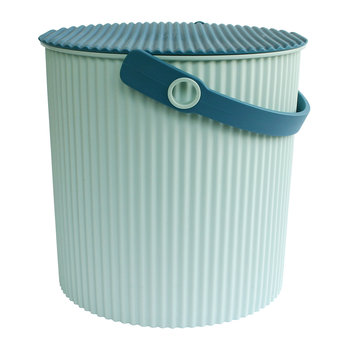 Omnioutil Storage Bucket with Lid - Light Blue