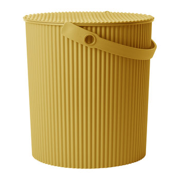 Omnioutil Storage Bucket with Lid - Mustard
