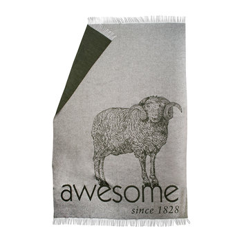 Bah Awesome! Blanket - Light Gray