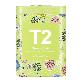 Limited Edition Designer Tea Tin - Green Rose