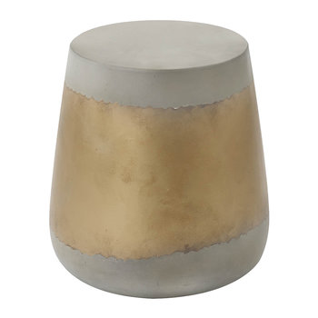 Jay Side Table - Grey/Gold