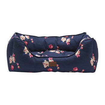 Floral Print Box Dog Bed