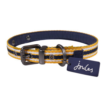Coastal Stripe Dog Collar - Navy